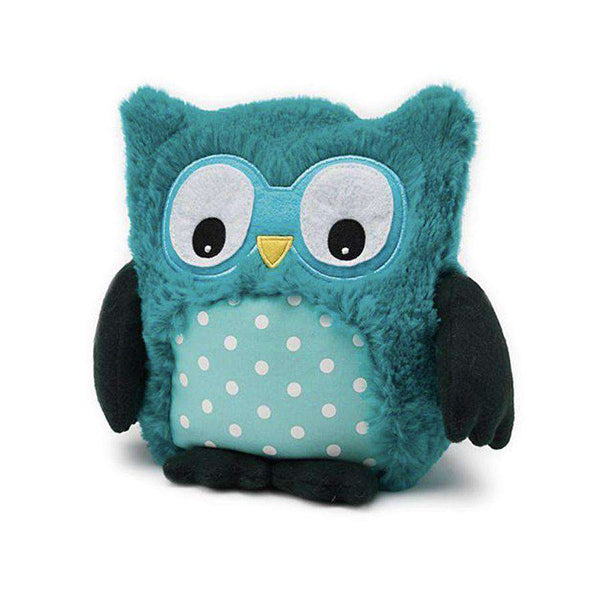 "Warmies | Warming Soft Toys ~ 9"" Hooty & Friends Turquoise"