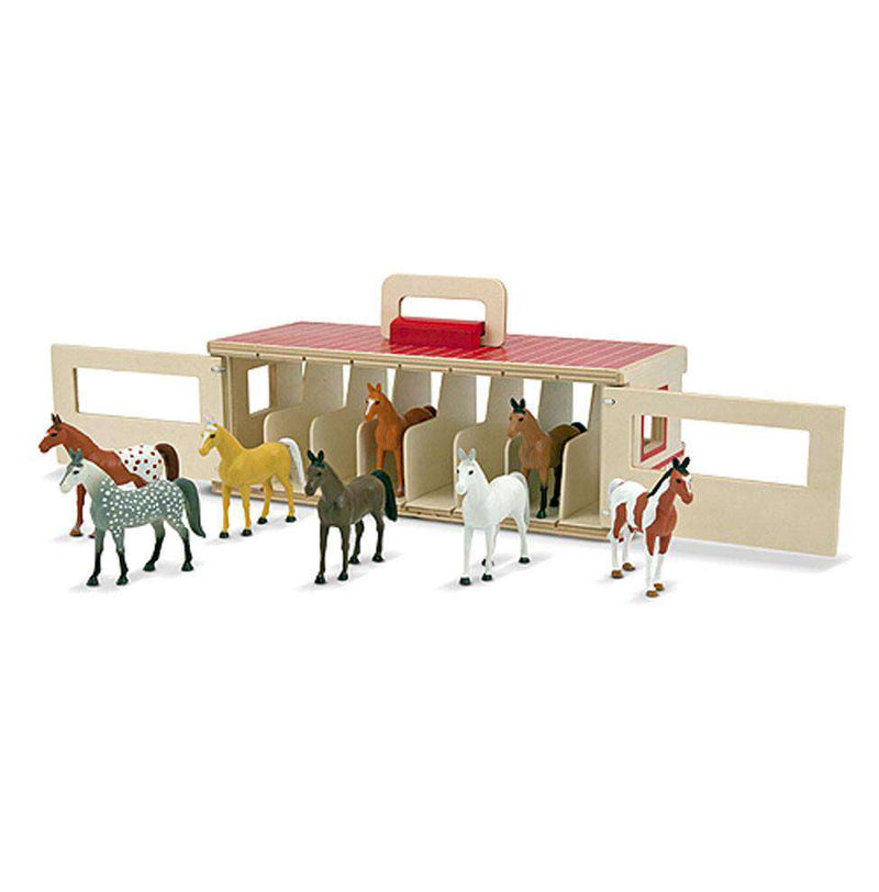 Melissa & Doug | Take-Along Show-Horse Stable Play Set