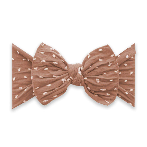 Baby Bling Bows |  Patterned Shabby Knot ~ Rose Gold Dot