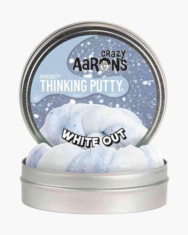 Crazy Aaron's Thinking Putty Limited Editon | Hyperdot ~ White Out 3 oz