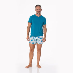 Kickee Pants Men's Boxer Brief | Illusion Blue Ramen