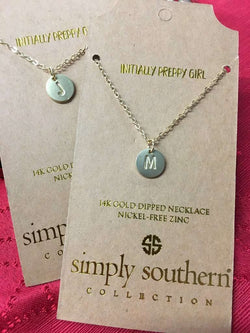 4d9ddb9b15 Simply Southern ~ Pendant Initial Necklace – Mom's Milk Boutique