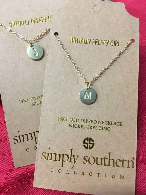 Simply Southern ~ Pendant Initial Necklace