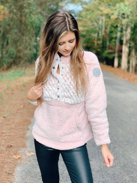 Simply Southern | Piped Sherpa ~ Pink