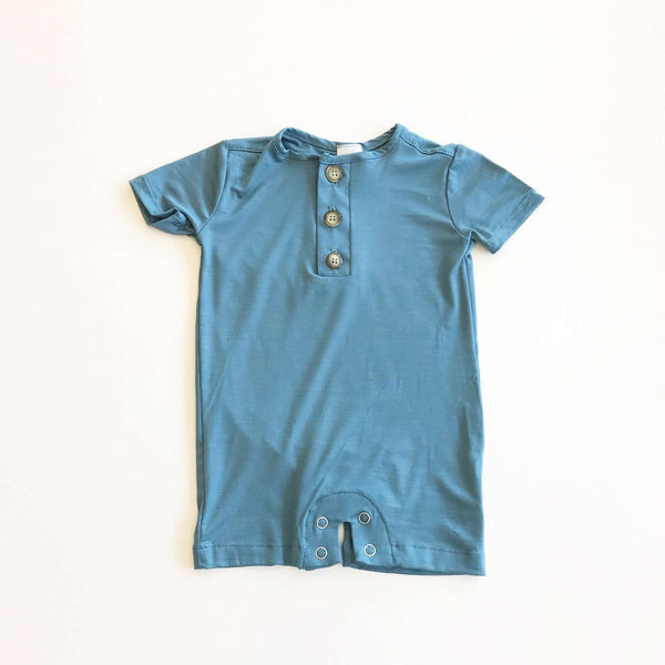 Little Mister | Baby & Toddler Romper ~ Ocean Blue