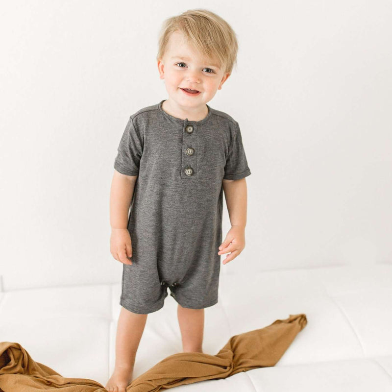 Little Mister | Baby & Toddler Romper ~ Charcoal Grey