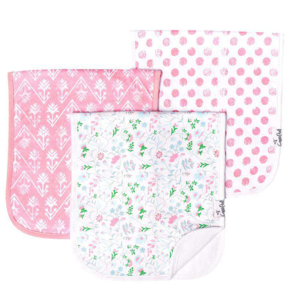 Copper Pearl | Premium Burp Cloth 3 Pack Set ~ Claire