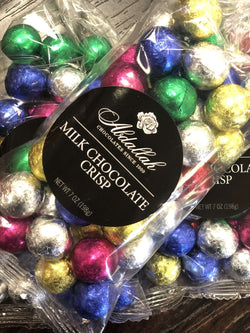Abdallah Chocolate | Holiday Selection ~ Milk Chocolate Crisp Christmas Balls