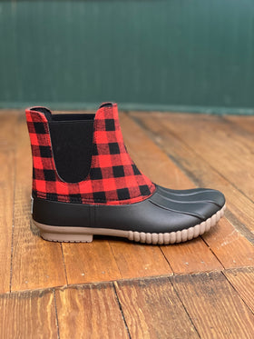 Simply Southern | Slip On Duck Boots ~ Buffalo Plaid