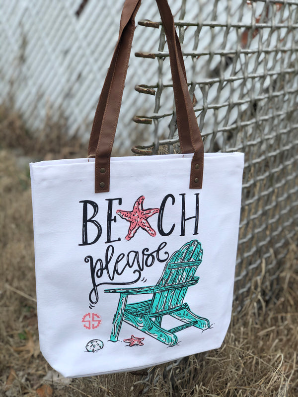 Simply Southern | Tote Bag ~ Beach Please