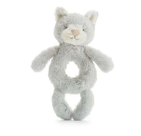 Jellycat Bashful Grey Kitty Ring Rattle