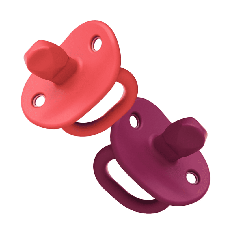 Boon | Jewl Orthodontic Silicone Pacifier ~ Coral