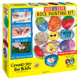 Creativity For Kids | Hide & Seek Rock Painting