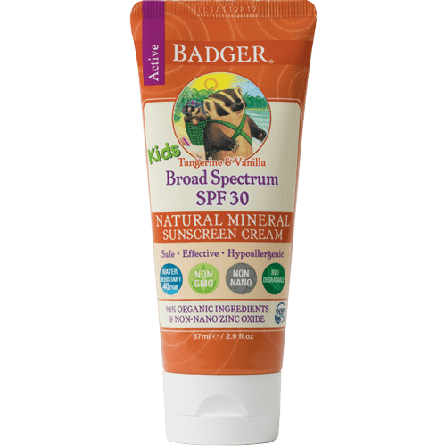 Badger Healthy Body Care ~ Kids Broad Spectrum Sunscreen SPF 30 2.9 fl oz (Tangerine & Vanilla)