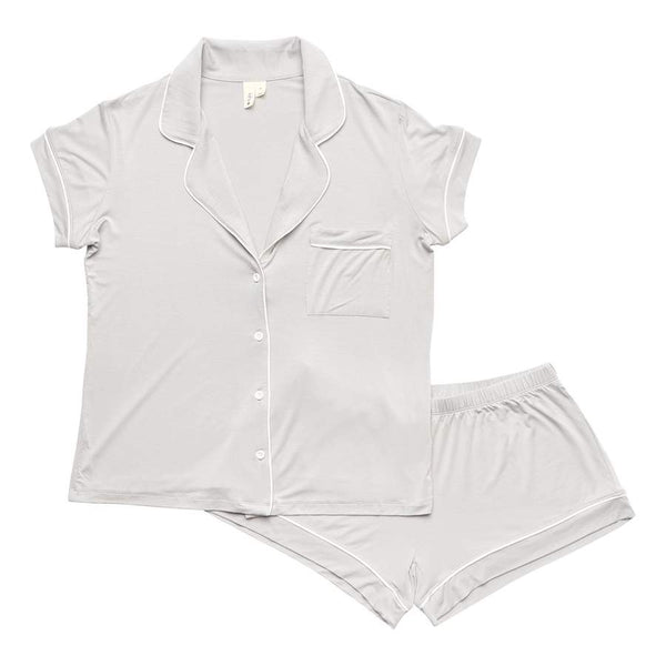 Kyte Baby | WOMEN'S SHORT SLEEVE PAJAMA SET ~ Storm with Cloud Trim