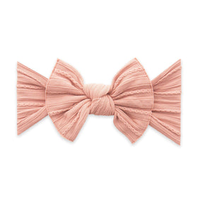 Baby Bling Bows | Cable Knit Knot Headband ~ Rose Gold