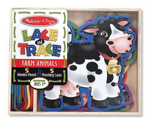 Melissa & doug | Lace and Trace Farm Animals