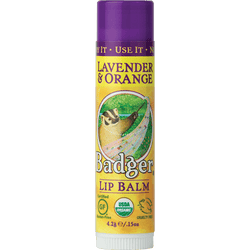 Badger Healthy Body Care ~ Classic Organic Lip Balm - Lavender Orange