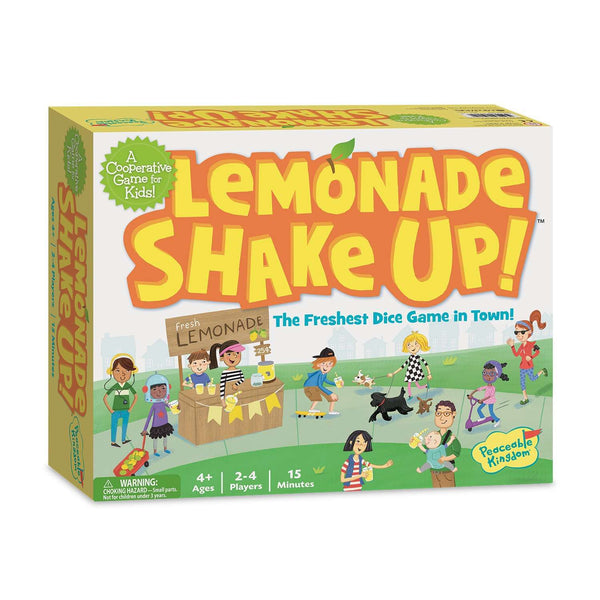 Peaceable Kingdom | Board Games ~ Lemonade Shake Up! A Cooperative Game for Kids