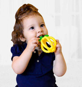 Itzy Ritzy - BITZY BITER™ TEETHING BALL & TRAINING TOOTHBRUSH ~ Lemon