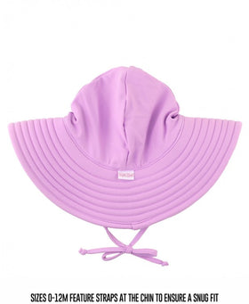 RuffleButts Lilac Swim Hat