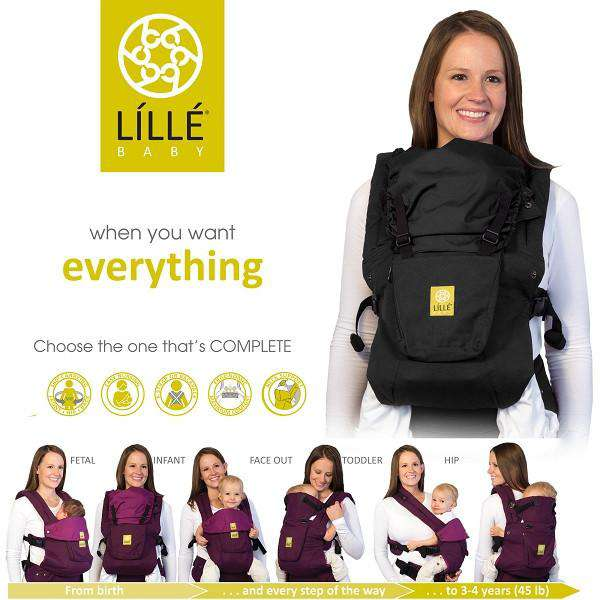 Lillebaby Carrier | All Seasons Charcoal & Berry