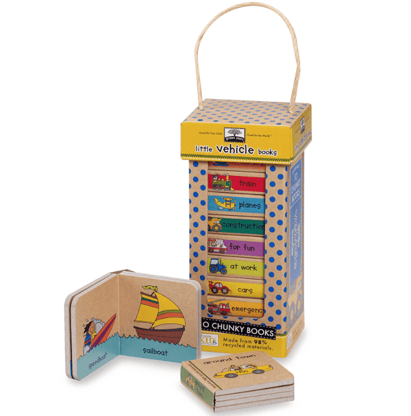 Melissa & Doug | Natural Play Book Tower ~ Little Vehicles