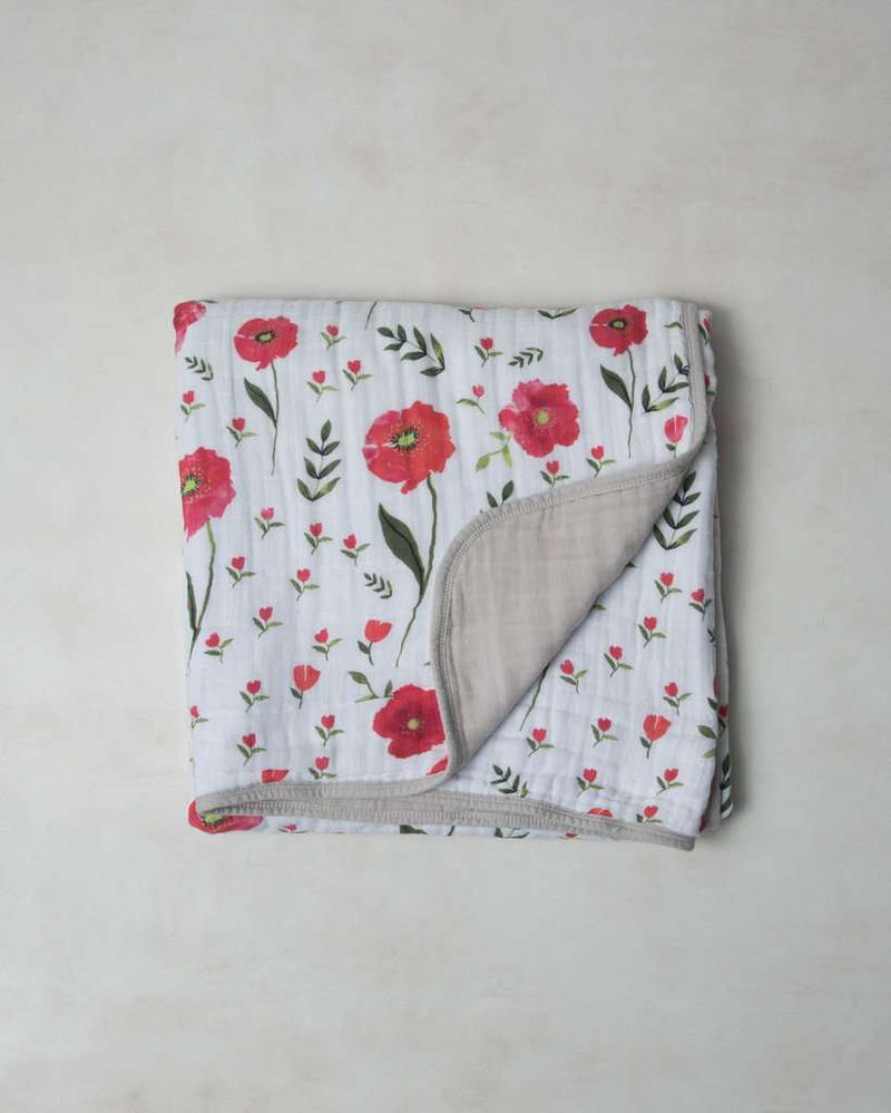 Little Unicorn | Cotton Muslin Quilt ~ Summer Poppy