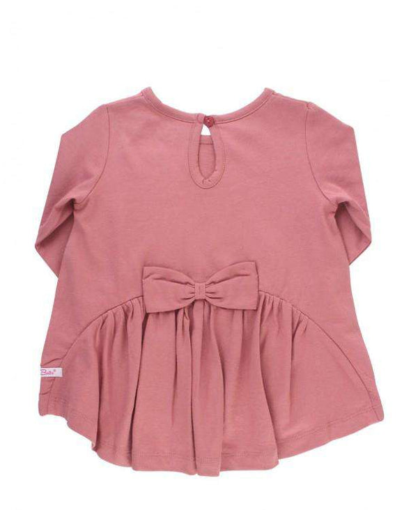 RuffleButts ~ Mauve Long Sleeve Bow-Back Top
