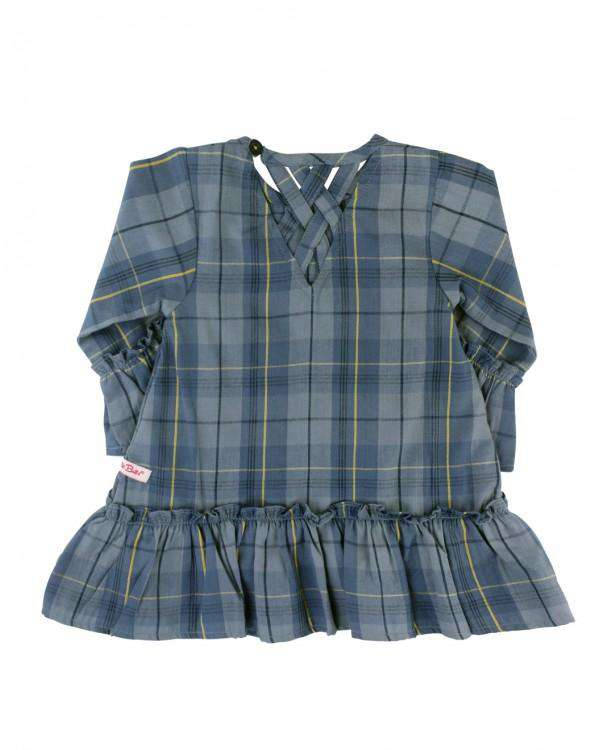 RuffleButts ~ Noah Plaid Peplum Top