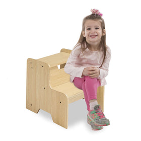 Melissa & Doug | Solid Wood Step Stool ~ Natural
