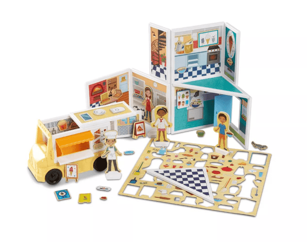 Melissa & Doug | Magnetivity Building Play Set – Pizza & Ice Cream Shop