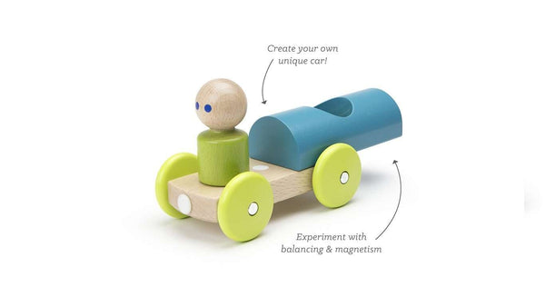 Tegu Baby and Toddler | Magnetic Racer ~ Teal