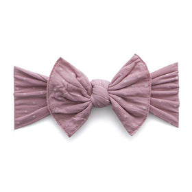 Baby Bling Bows | Patterned Knot ~ Mauve Dot