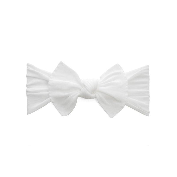Baby Bling Bows | Itty Bitty Knot Headband ~ White