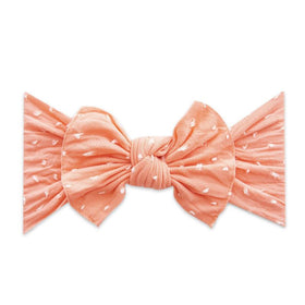 Baby Bling Bows | Patterned Shabby Knot ~ Coral Dot