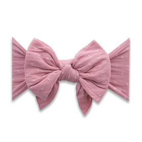 Baby Bling Bows | Dang Enormous Bow Headband ~ Mauve Dot