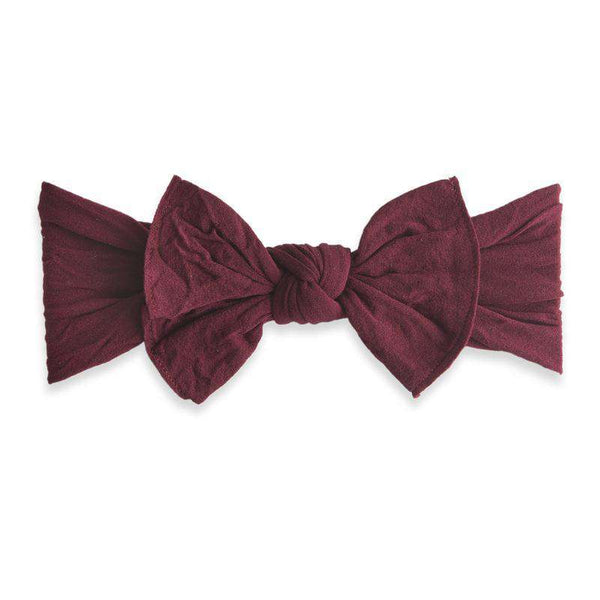 Baby Bling Bows | Knot Headband ~ Burgundy
