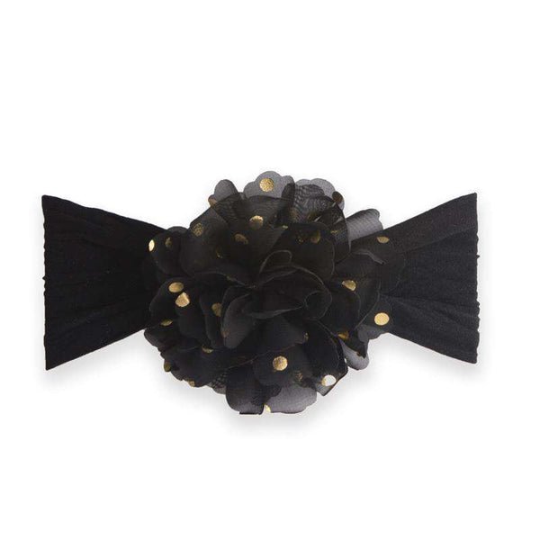 Baby Bling Bows | Flower Dot Headband ~ Black