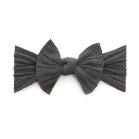 Baby Bling Bows | Cable Knit Knot Headband ~ Charcoal
