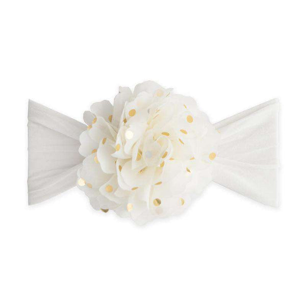 Baby Bling Bows | Flower Dot Headband ~ Ivory