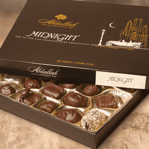 Abdallah Chocolate | Boxed Chocolate Selection ~ Midnight