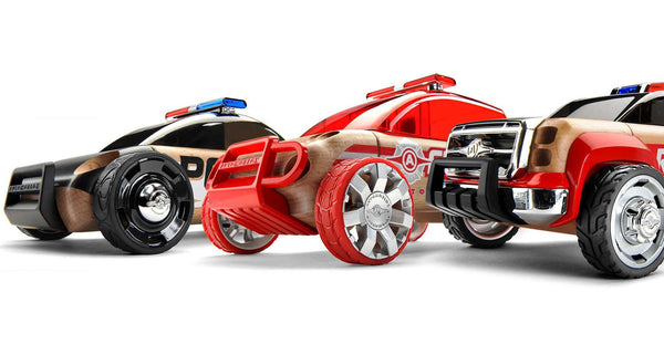 Automoblox | Mini S9 Police/X9 Fire SUV/T900 Rescue - 3 Pack