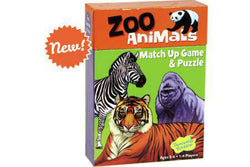 Peaceable Kingdom | Match Up Games & Puzzles | Zoo Animals