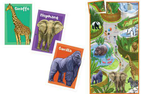 Peaceable Kingdom | Match Up Games & Puzzles ~ Zoo Animals