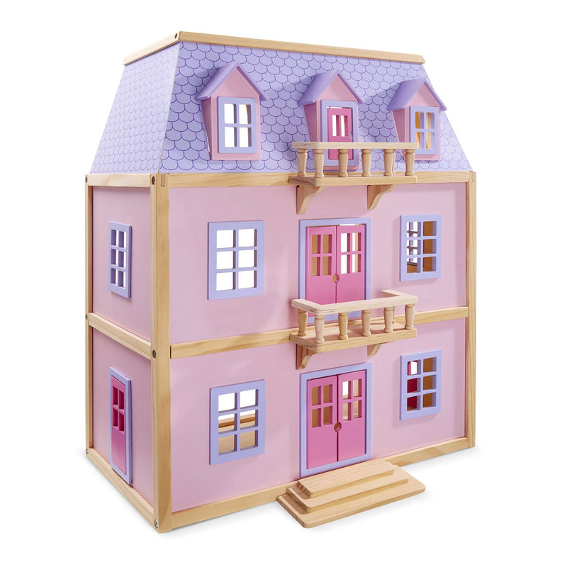 Melissa & Doug | Multi-Level Dollhouse & Furniture Set