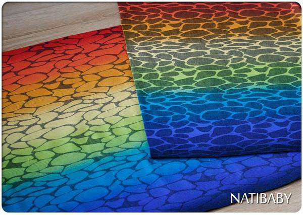 Natibaby Woven Wrap MMB Exclusive | Black Weft | Rainbow Ripple *final sale*