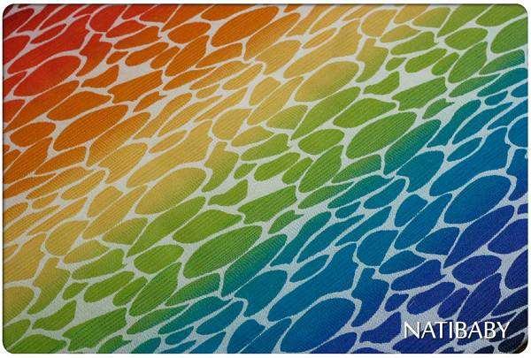 Natibaby Woven Wrap MMB Exclusive | White Weft | Rainbow Ripple *final sale*