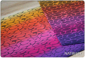 Natibaby Woven Wrap MMB Exclusive | Black Weft | Rainbow Ripple Indigo to Red  3.6m*final sale*