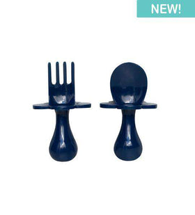 Grabease | First Self Feeding Utensil Set ~ Navy
